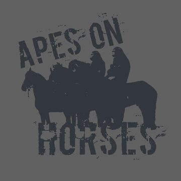 Apes on Tee-horses by FOGdark