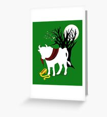 Into the woods greeting cards redbubble into the woods green background greeting card m4hsunfo