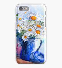 Daisies in a Blue Jug iPhone Case/Skin