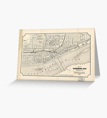 Vintage Map of Harrisburg PA (1877) Greeting Card