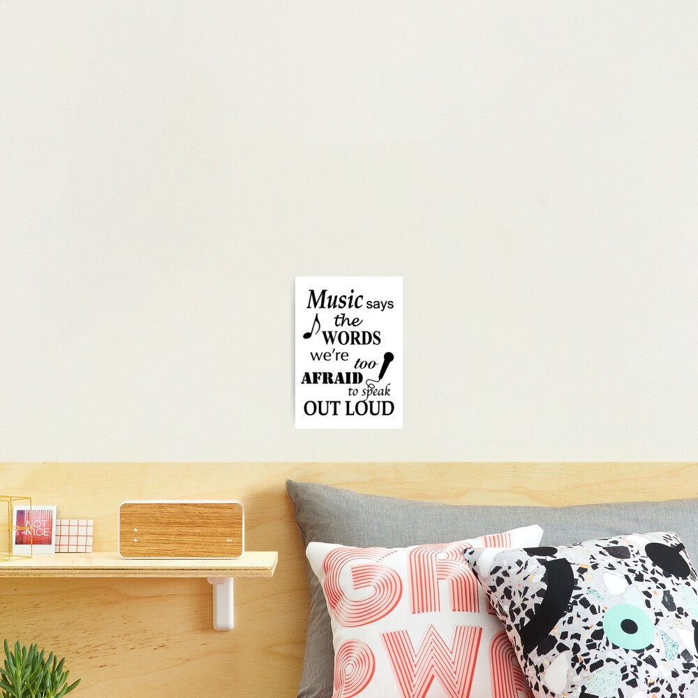 Music Quotes Photographic Print