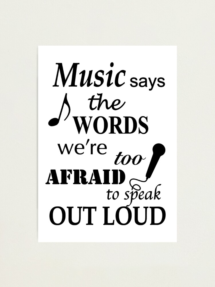 Alternate view of Music Quotes Photographic Print
