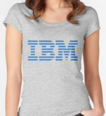 IBM Blue Logo Women's Fitted Scoop T-Shirt