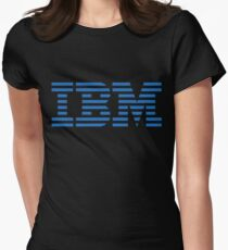 IBM Blue Logo Womens Fitted T-Shirt