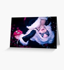 Black Cat Spidey box Greeting Card
