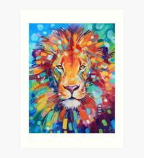 Abstract Lion Art Print