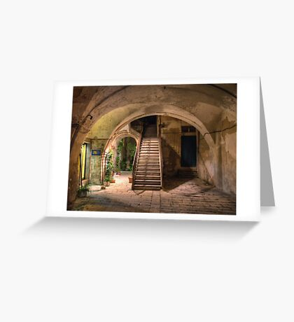Old House in Modica Greeting Card
