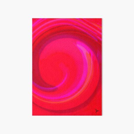Twirl of Emotion: Calm Art Board Print