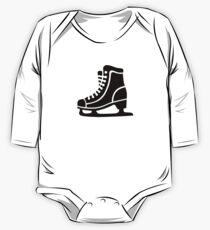 Black ice skate One Piece - Long Sleeve