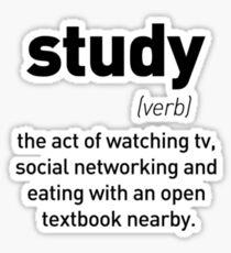 Define Study Sticker