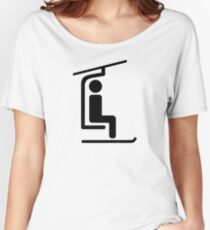 Ski Chairlift Women's Relaxed Fit T-Shirt