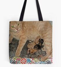 Proud Mama Tells Me To Admire Her Kittens Tote Bag