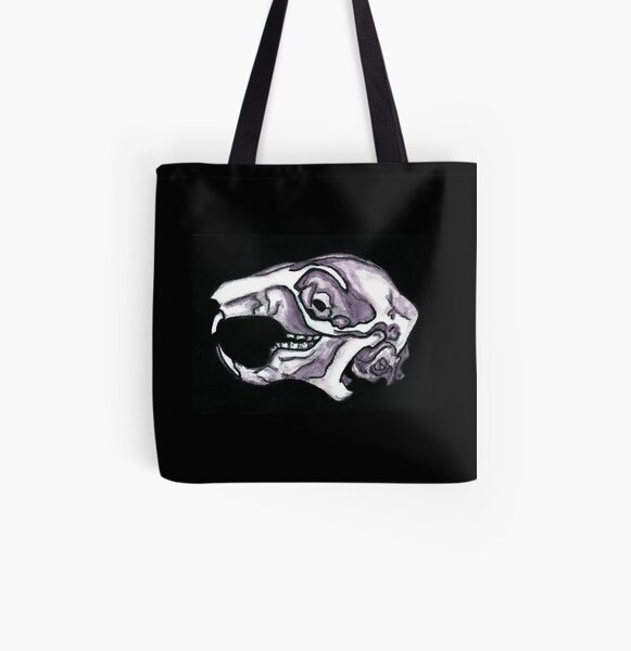 Squirrel Skull  All Over Print Tote Bag
