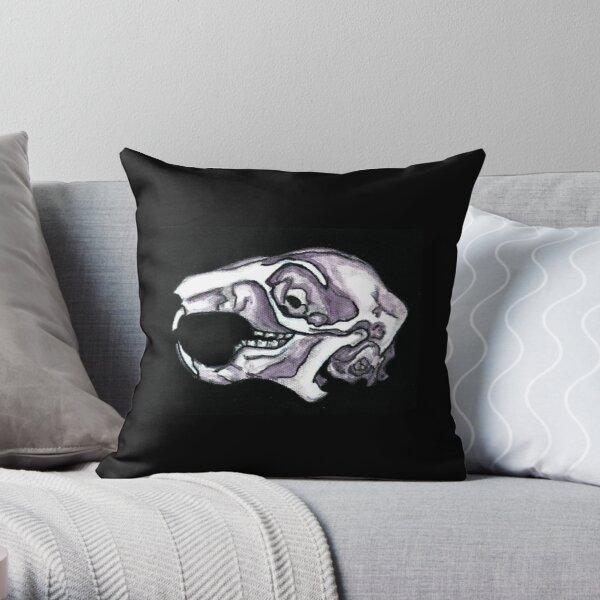 Squirrel Skull  Throw Pillow