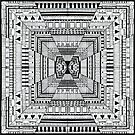 Line carpet by Aleksandra Kabakova