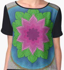 Lotus Flower Chiffon Top