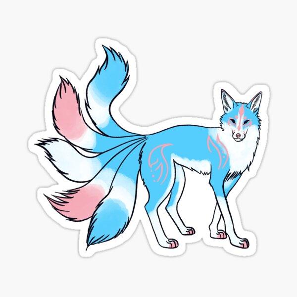 Trans Pride Kitsune Fox Sticker