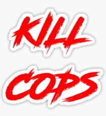 Kill Cops (red) Sticker