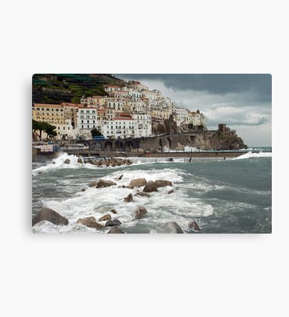 Storm in Amalfi - Italy Canvas Print