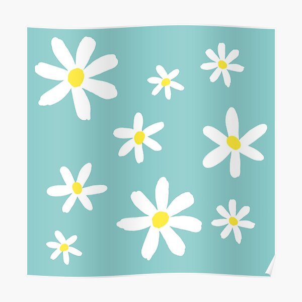 Daisy flowers Poster