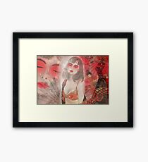 To tell you a geisha story... Framed Print
