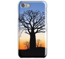 Boab Silhouettes (Panorama) iPhone Case/Skin