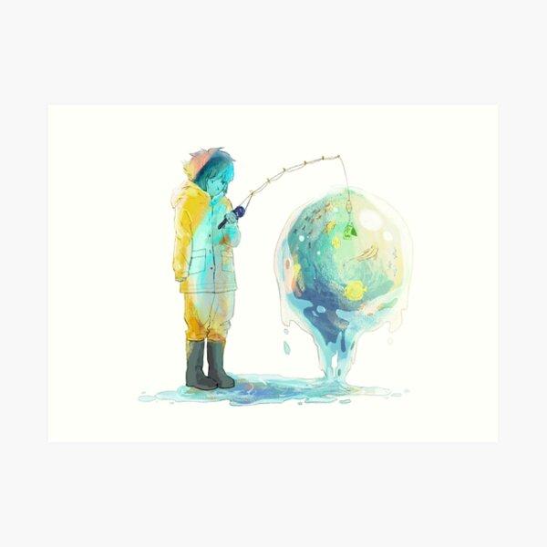 Lapis - Fishing the old fashioned way Art Print