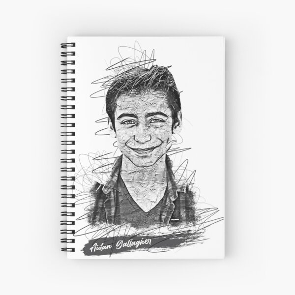 Aidan Gallagher Boceto abstracto artístico, Aidan Gallagher, Número 5 Cuaderno de espiral