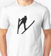 Ski jumper jumping Unisex T-Shirt