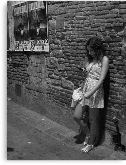 Italian girl in an alley