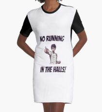 """No Running in the Halls"" Ishimaru Kiyotaka Sprite Graphic T-Shirt Dress"
