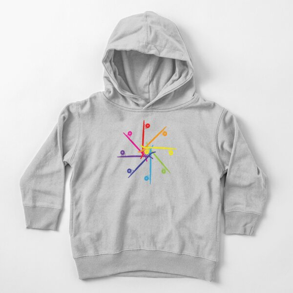 Penguin Color Wheel Kids Fashion Pullover Hoodie Sweatshirt With Pocket