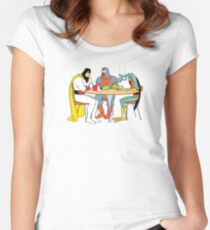 Space Ghost Coast to Coast Women's Fitted Scoop T-Shirt