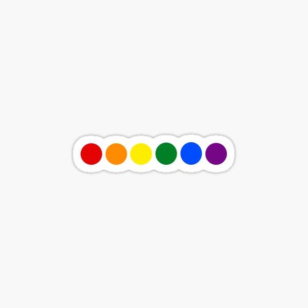 Rainbow dots Sticker