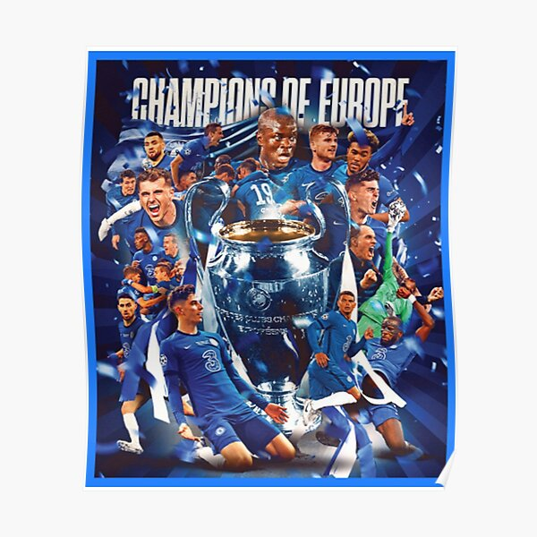 Chelsea Champions Of Europe  Poster