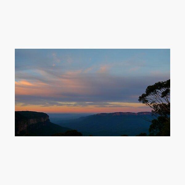 Sunrise at Wentworth falls Photographic Print