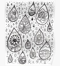 Raindrops of imagination Poster