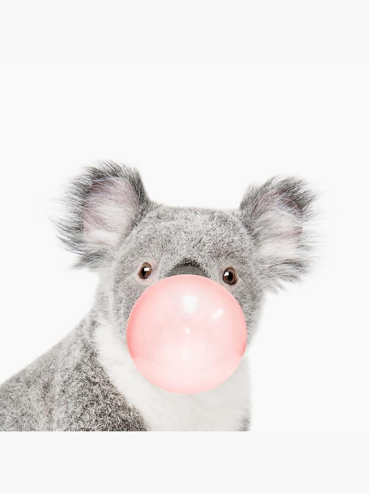 Koala print, Bubble gum, Nursery art, Koala wall art, Animal, Kids room, Modern art, Wall decor by juliaemelian