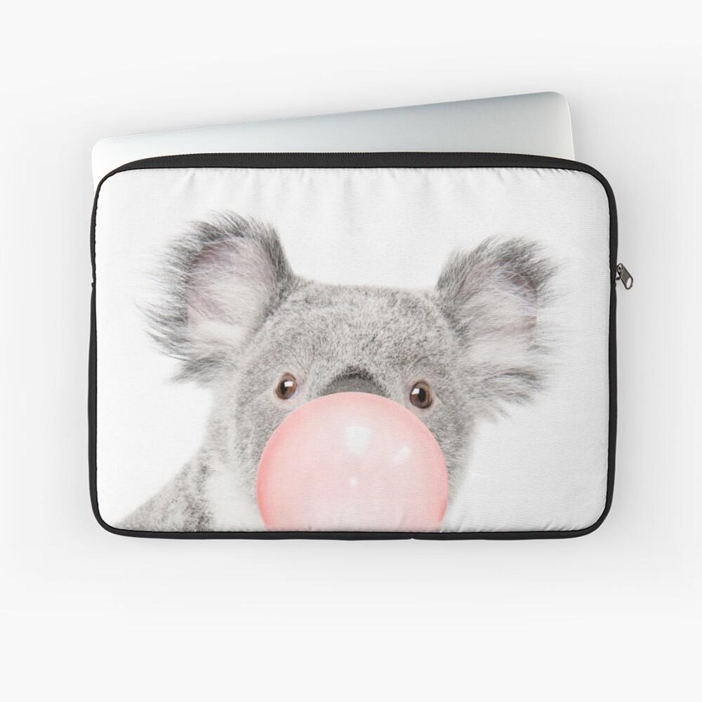 Koala print, Bubble gum, Nursery art, Koala wall art, Animal, Kids room, Modern art, Wall decor Laptop Sleeve