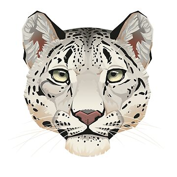 Snow Leopard Face by PaulaLucas