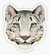 Snow Leopard Face Sticker