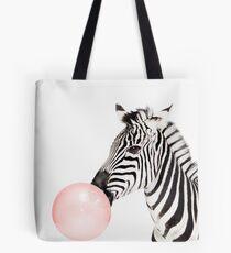Zebra-Print, Kaugummi, Kindergarten Kunst, Zebra Wandkunst, Tier, Kinderzimmer, moderne Kunst, Wanddekoration Tote Bag