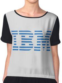 IBM Blue Logo Chiffon Top