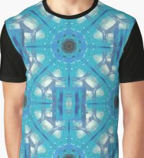 Ice Crystals Abstract Pattern Graphic T-Shirt