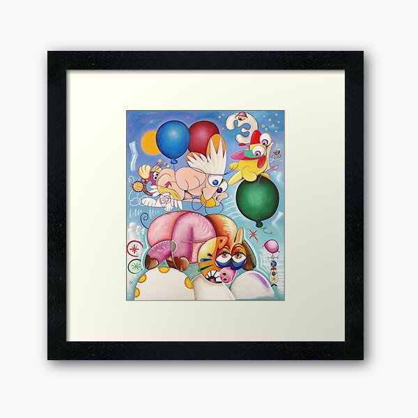 Pig-landing in cloudy weather Framed Art Print