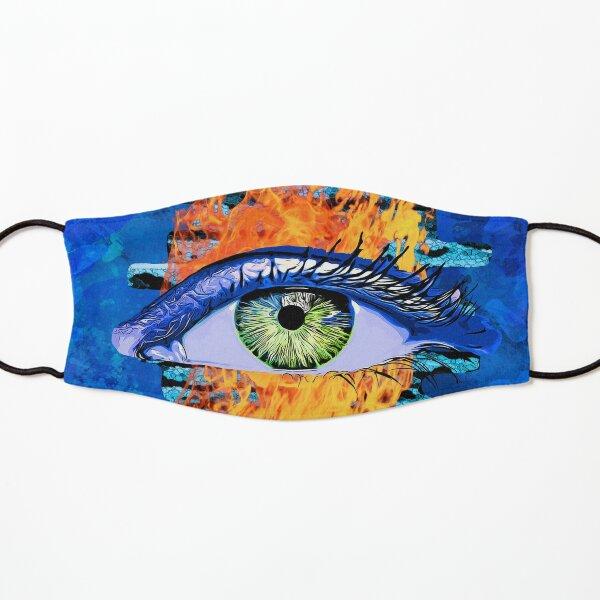 Legakulie Auge Feuer Mauer blau Maske für Kinder