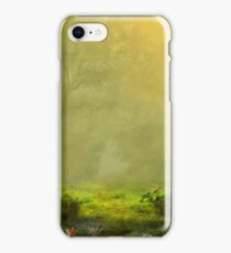 Glowing Forest Pale Green iPhone Case/Skin