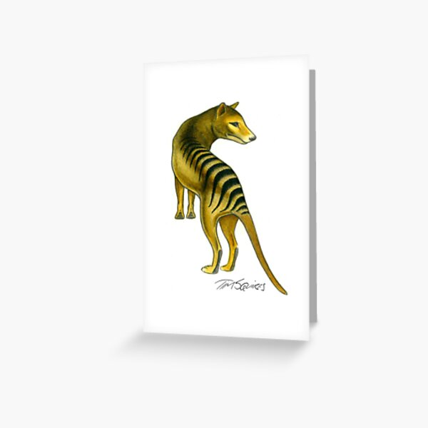 Tasmanian Tiger (Thylacine) Greeting Card