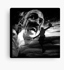 Michael JORDAN - BLACK version Canvas Print