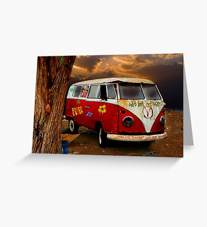 THE HIPPIES HAVE ALL GONE NOW.......... Greeting Card